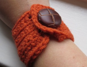 Wrist Cuff. I love this button. It reminds me of grandpas. I doubt my either of my grandpas would have worn this wrist cuff though.