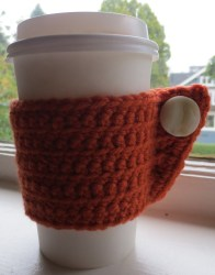 Coffee Sleeve 3 (see what I mean about how many I make?) For the record, I have never used one of these sleeves because who in the world remembers to put their homemade coffee sleeve in their bag when they leave? Not this girl.