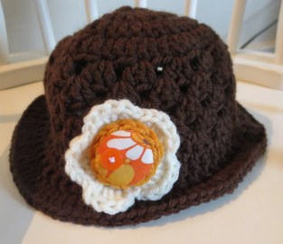 Toddler`s sun hat. Not MY toddler mind you, he would NEVER wear this.