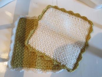 Bamboo cotton baby wash cloths.