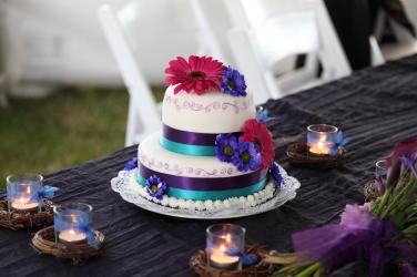 A wedding cake I made for some friends.