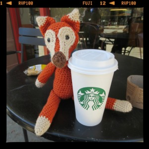 Foxy had a latte. Skinny, obv.