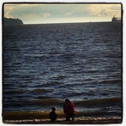 """Looking out over English Bay to find """"the edge of the world""""."""