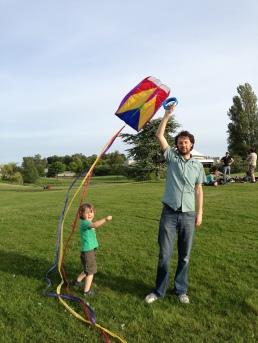 Kite night at Kits Point!