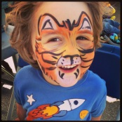 Face painting at Kits farmer`s Market. Shere Kan was born