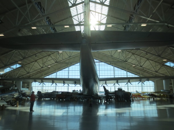 The Spruce Goose (google it). Pretty cool. I have included a pre-schooler in the picture so that you get a sense of the scale. Its a billion times larger than a pre-schooler.